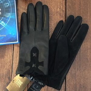 Frye Black Leather Gloves Size Small
